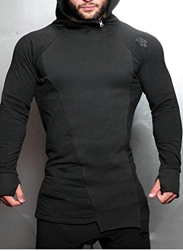 Body Engineers SVGE FENRIR Hoodie Dark Grau Melange Größe M