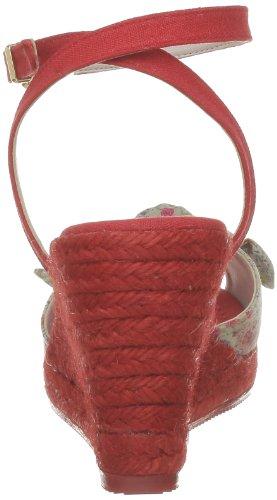 Ras 956FR1Y Damen Slipper Rot (Flower sand/Lino red pepper)
