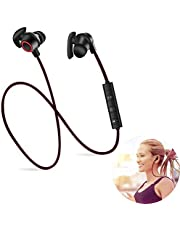 Bluetooth Headphones, Wireless Neckband Headset Bluetooth V4.1 Magnetic Hi-Fi Sports Earphones with Mic