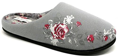 DE FONSECA pantofole ciabatte da donna/ragazza mod. TORINO W219 GRIGIO