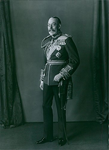 Vintage photo of 1980Portrait of the King of Britain and Emperor of India from 1910 until his death in 1936 King George V.