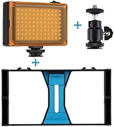 2 3 4 5pcs Set Venta Smartphone Video Rig LED Studio Light Video Micrófono Mini Trípode Soporte Kit Trípode Cabeza para iPhone: Amazon.es: Electrónica