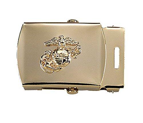 4407 Brass Plated USMC Emblem Web Belt Buckle