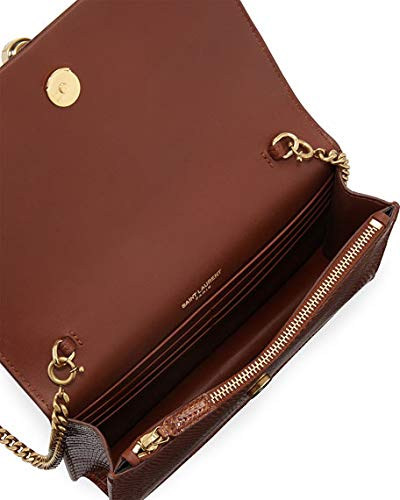 b3ab983bbcb Saint Laurent Kate Monogram YSL Small Lizard Wallet on Chain made in Italy   Handbags  Amazon.com