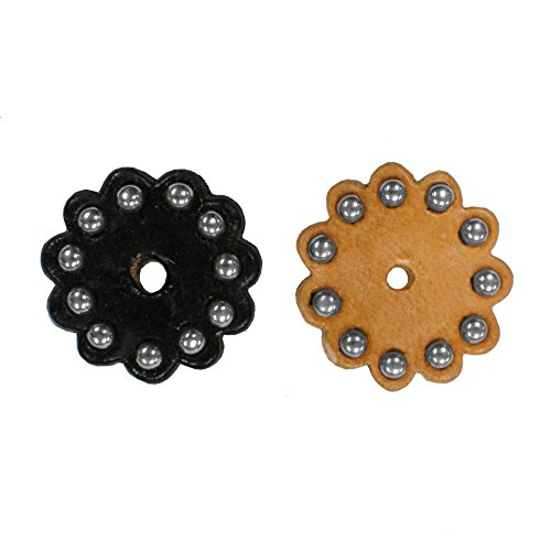 Leather Rosettes with Spots 1.5 inch Lot of 6 from Tahoe Tack