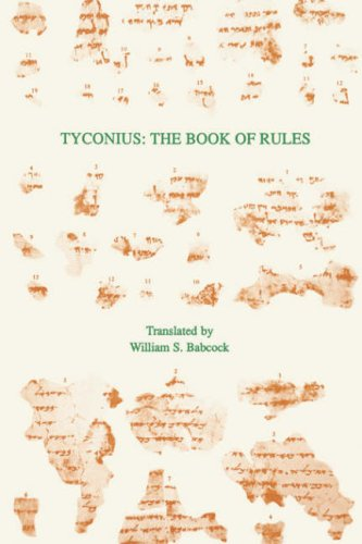 Tyconius: The Book of Rules (TEXTS AND TRANSLATIONS (SOCIETY OF BIBLICAL LITERATURE)) (English, Latin and Latin Edition) by Society of Biblical Literature / Scholars Press