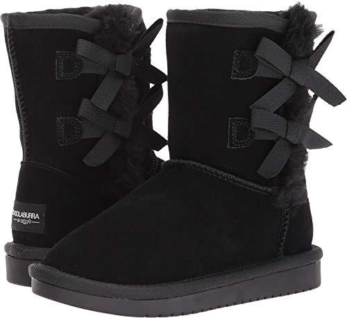 Koolaburra by UGG Girls' Victoria Short Fashion Boot, Black, 01 Youth US Little Kid