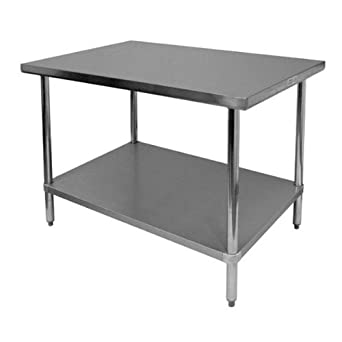Amazon Com 24 X 36 Stainless Steel Work Table With Undershelf Kitchen Island Food Prep Laundry Utility Bench Garage Work Station Nsf Certified Industrial Scientific