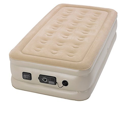 Serta Raised Twin-size Self Inflating Airbed with NeverFlat AC Pump by Serta