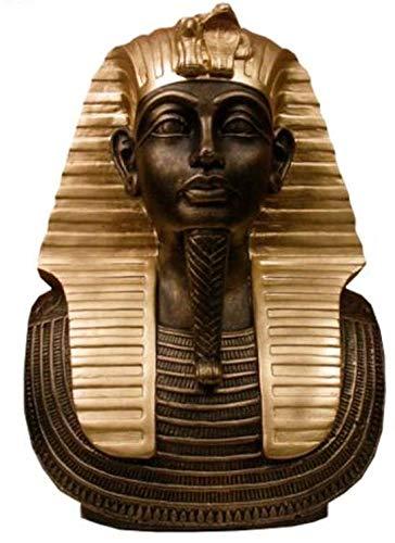Faraón Tut Ench amón Busto?Gypte Egypt pintado? La mano máscara Escultura D?