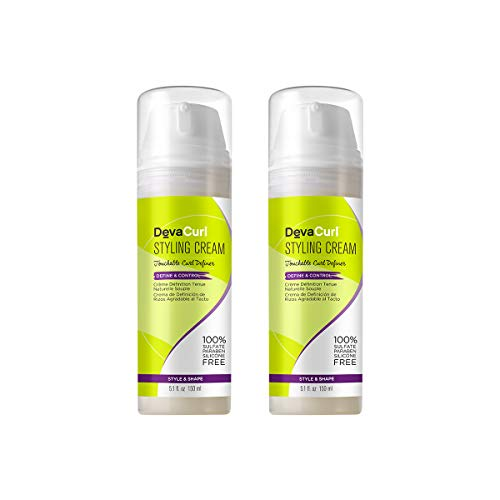 DevaCurl Styling Cream Define and Control Touchable Hold, 5.1 Fl Oz Pack of 2
