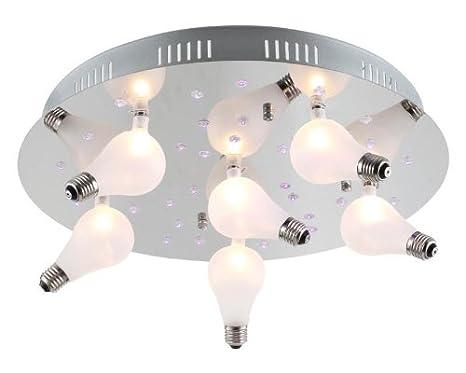 Lúzete - Plafon cromo g4 led c.remoto(6l,20w)