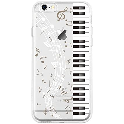 iPhone 6S Plus Case, GoldSwift Clear Case with Designed for iPhone 6 Plus (Piano)