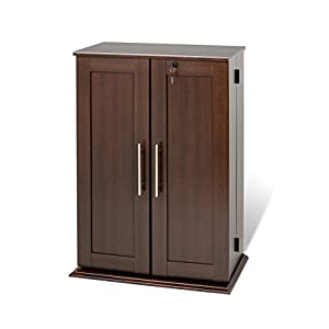 kitchen cabinets amazon espresso locking media storage cabinet with 2867