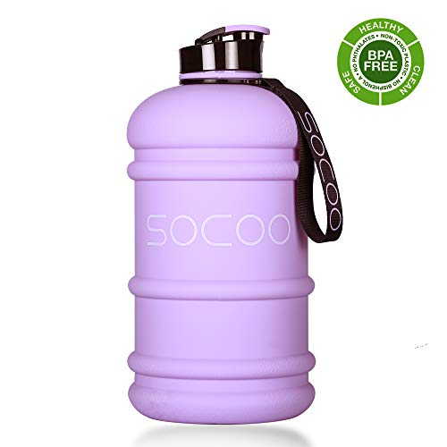 2 Litre Water Bottle Big US Eastman Tritan BPA Free Leakproof Wide Mouth Plastic Reusable Dishwasher Safe Drinking Gym Water Bottle for Sports Travel Camping Hiking Hydrate Large Water Jug ()