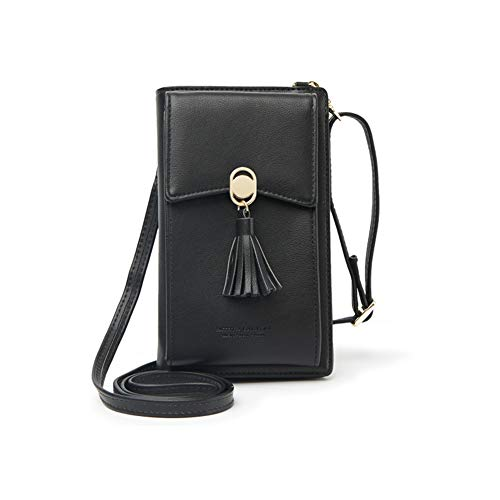 Side Cell Pocket - Kukoo Small Crossbody Bag Cell Phone Purse Wallet with Credit Card Slots for Women