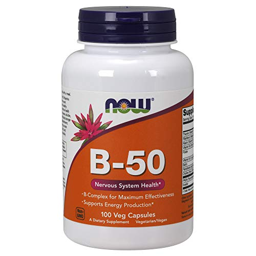 Now Supplements, Vitamin B-50 mg, 100 Veg Capsules