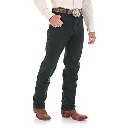 Denim Zip Jeans Back (Wrangler Men's 13MWZ Cowboy Cut Original Fit Jean, Green, 36W x 30L)