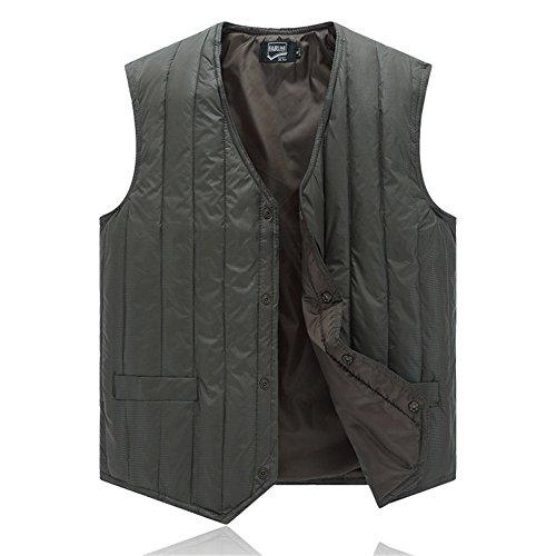 Roludom Men Ultralight Packable Lightweight Down Vest Winter Outdoor Puffer Vest (3XL, Green)