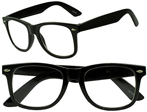 Wayfarer RX Strength Maginfication Reading Eye Glasses +1.00 +1.50 +2.00 +2.50 +3.50 Readers Eyewear (Black, 1 x)