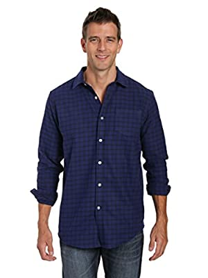 Noble Mount Mens 100% Cotton Flannel Shirt - Regular Fit