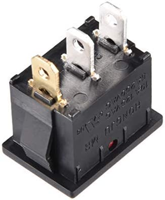125V 6A 250V SPST 3Pin 2 Positions On//Off Switch Red Light Boat Rocker switches AC 10A