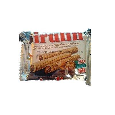 PIRULIN Barquillas Rellenas de Chocolate y Avellanas/Rolled Wafers with Chocolate & Hazelnuts, DOS