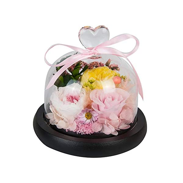 SANRAN Handmade Fresh Flower Rose with Beautiful Creative Heart Design a Gift for Valentine's Mother's Day Christmas Anniversary Birthday Thanksgiving Girls(Pink)