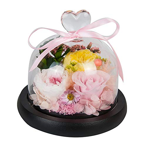- SANRAN Handmade Fresh Flower Rose with Beautiful Creative Heart Design a Gift for Valentine's Mother's Day Christmas Anniversary Birthday Thanksgiving Girls(Pink)