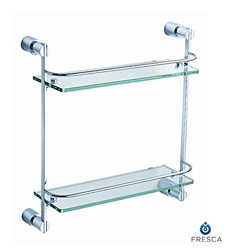 Fresca Bath FAC0146 Magnifico 2 Tier Glass Shelf, Chrome