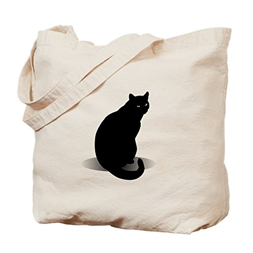 CafePress diseño de gato negro–gamuza de bolsa de lona bolsa, bolsa de la compra Small caqui