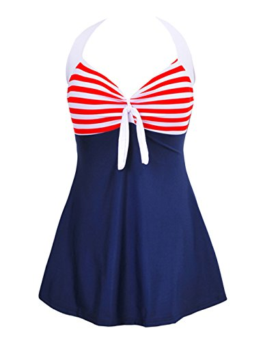 JOYMODE Vintage Swimsuit Skirtini Swimdress