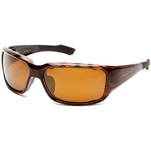 Native Eyewear Bolder Sun Glasses (Bronze Reflex/Brown, - Hut Sunglasses Sun