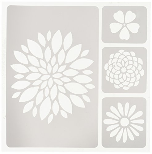 Flower Stencil (Momenta 27714 Flowers Adhesive Fabric Stencil)