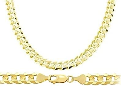 84ebc88d7425b Heavy 14k Yellow Gold Chain Cuban Curb Necklace Solid Link Mens 7.1mm