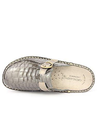 GRUNLAND - Zapatillas de estar por casa para mujer topo