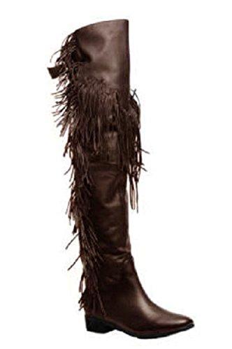 11sunshop Stiefel Modell Pocaentas Leder Hgilliane Dal Design In 33-44 Marrone