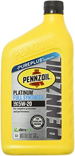 Pennzoil 550022686 Platinum Full Synthetic 5W-20 Motor Oil -1 (Pennzoil Synthetic Motor Oil)