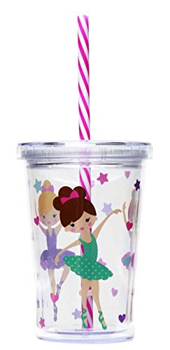 Heart Acrylic Album - C.R. Gibson Kids Insulated Tumbler With Straw, BPA-Free, Acrylic Double-Walled, Perfect For Little Hands, Measures 3.25