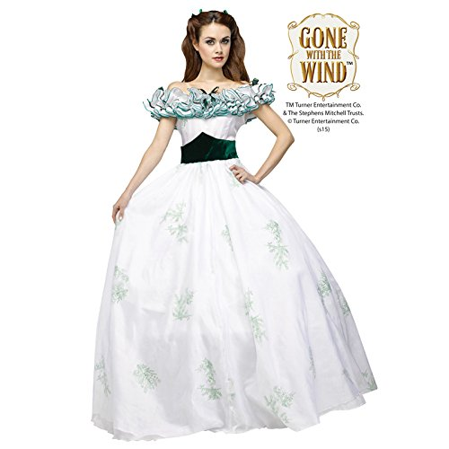 Victorian Costumes: Dresses, Saloon Girls, Southern Belle, Witch Scarlett OHara Twelve Oaks Gown Adult Costume $149.52 AT vintagedancer.com