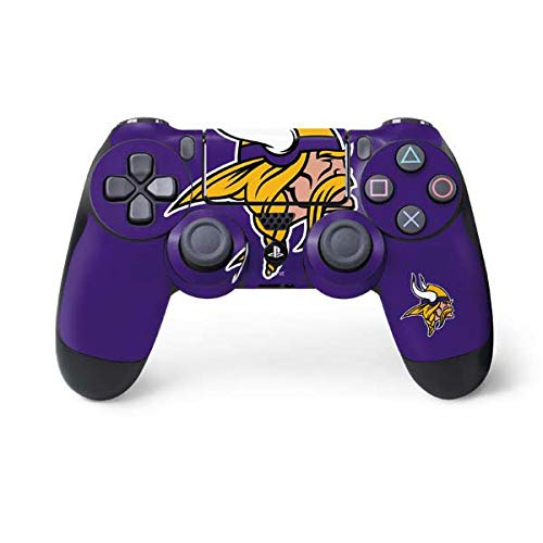 Skinit Minnesota Vikings Large Logo PS4 Controller Skin - Officially Licensed NFL PS4 Decal - Ultra Thin, Lightweight Vinyl Decal Protective Wrap