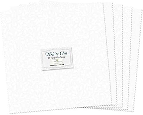 Wilmington Prints Essential 10 Karat Gems 24 Fabric Squares 10 x 10 White Out all White