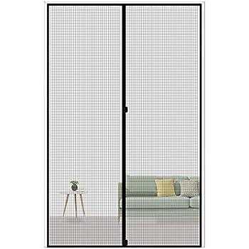 MAGZO Magnetic Screen Door 32 x 80, Reinforced Fiberglass Mesh Curtain Patio Door Mesh with Full Frame Hook&Loop Fits Door Size up to 32