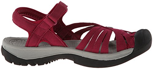 Keen Mujeres Rose Sandal Rose Beet Red / Neutral Gray