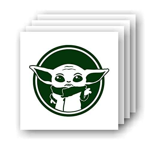 Baby Yoda die cut decal Made in USA Multiple Colors Custom Sizing offered  6+yr