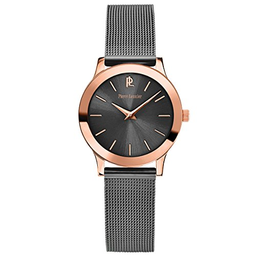 Women's Watch Pierre Lannier - 050J988 - WEEK-END LIGNE PURE - Grey and Rose-Gold - Milanese Band by Pierre Lannier