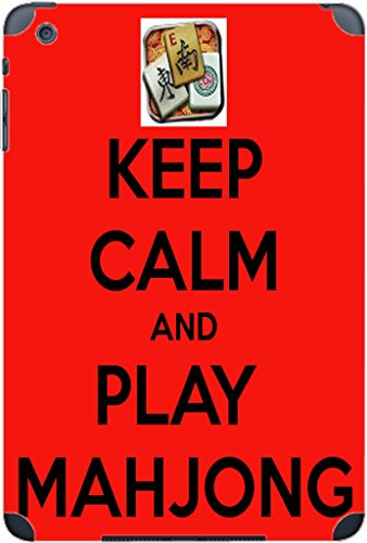 Keep Calm and Play Mahjong Vinyl Decal Sticker Skin by Debbie's Designs for iPad Mini (1st & 2nd Gen)