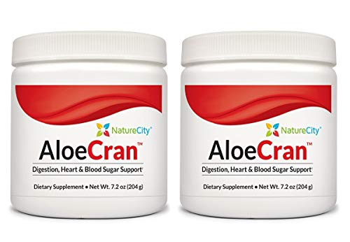 AloeCran – Sugar Free Aloe Vera Cranberry Drink Mix Featuring 5 Grams of Organic Fiber – 2 Pack
