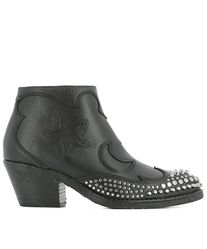 Cuero By Mcq Mujer 447273r24301000 Mcqueen Alexander Botines Negro BYdrqY