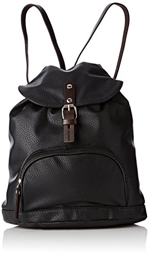 Paquetage BS, Damen Rucksackhandtasche Schwarz - Noir (001/Noir)